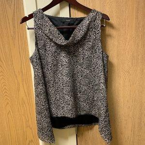 EUC TAHARI soft animal print blouse